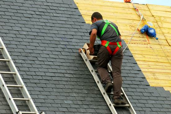 Roofing Company Worker Falls Through Roof